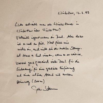 Peter Stamm, 16.3.1999
